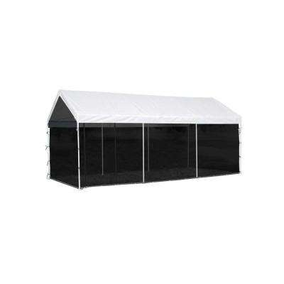 Max AP 10 ft. x 20 ft. 2-in-1 White Canopy with Screenhouse Enclosure Kit