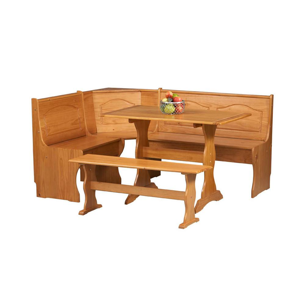 Linon Home Decor Chelsea 3 Piece Natural Dining Set K90366 67 68n2 The Home Depot