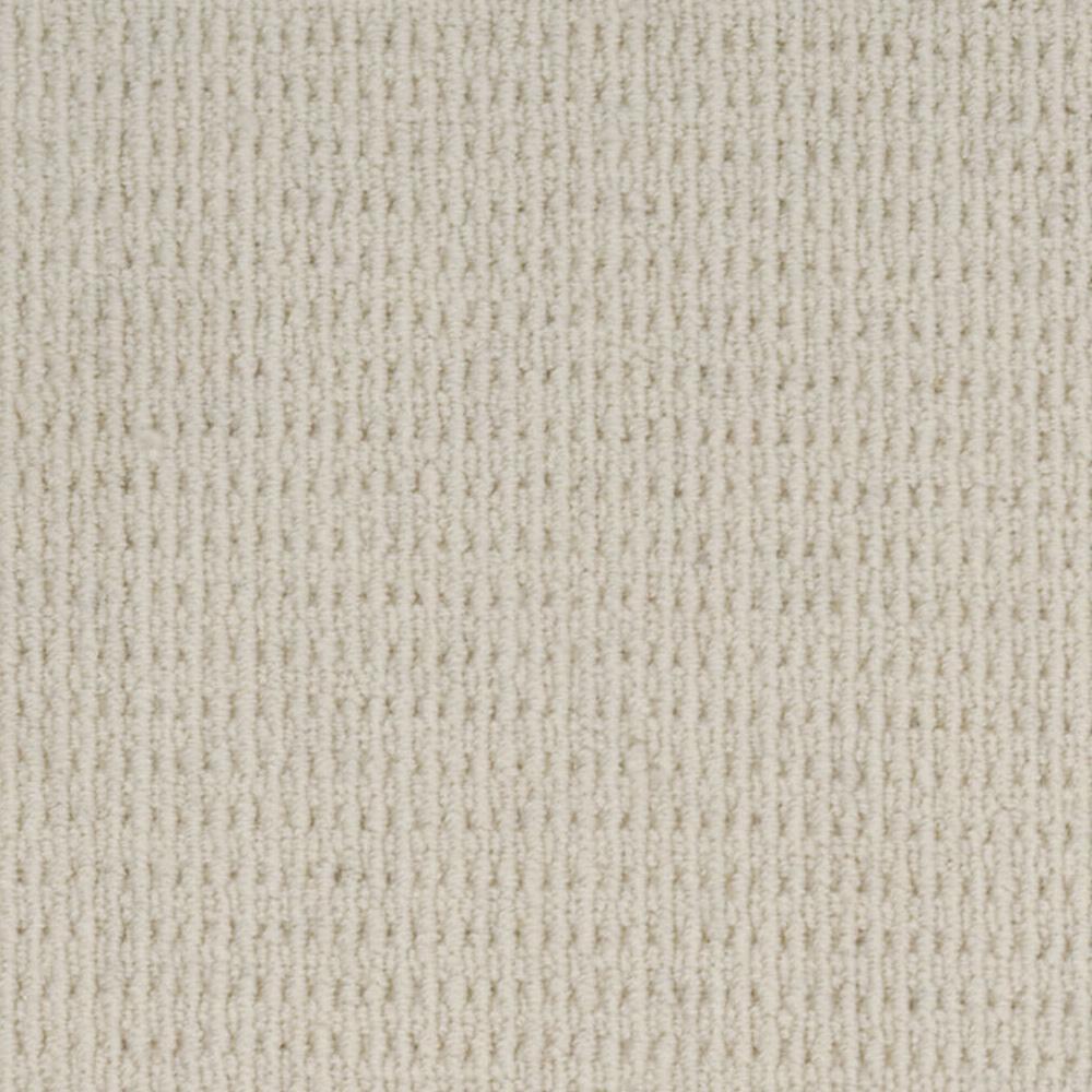 Carpet Sample - Savanna Square - Color Blanc Loop 8 in. x 8 in.