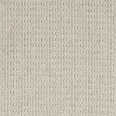 Carpet Sample - Savanna Square - Color Blanc Loop 8 in. x 8 in.