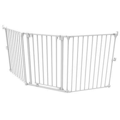 30 in. H Extra Wide Child Safety Barrier, White, Up to 76.5 in. W