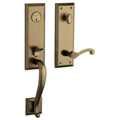 Stonegate Single Cylinder Lifetime Polished Brass Right-Hand Door Handleset