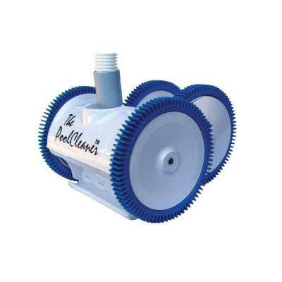 Poolvergnuegen 4 Wheel Automatic Suction Side Pool Cleaner in White for Vinyl Pools