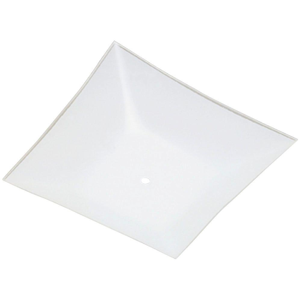 11 3/4 in. Square Glass Diffuser White Finish with 1-1/2 in.