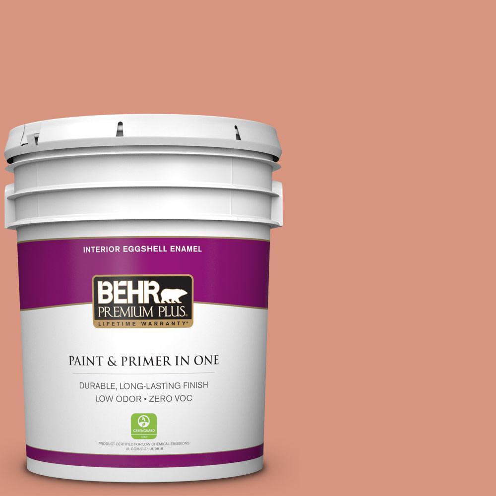 BEHR Premium Plus 5-gal. #BIC-17 Tropical Blooms Eggshell Enamel Interior Paint
