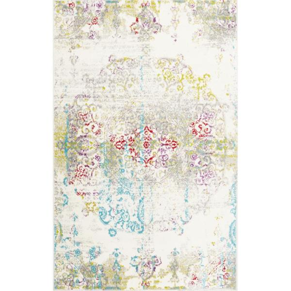 Boho Ivory/Multi 6 ft. 6 in. x 9 ft. 6 in. Indoor Area Rug
