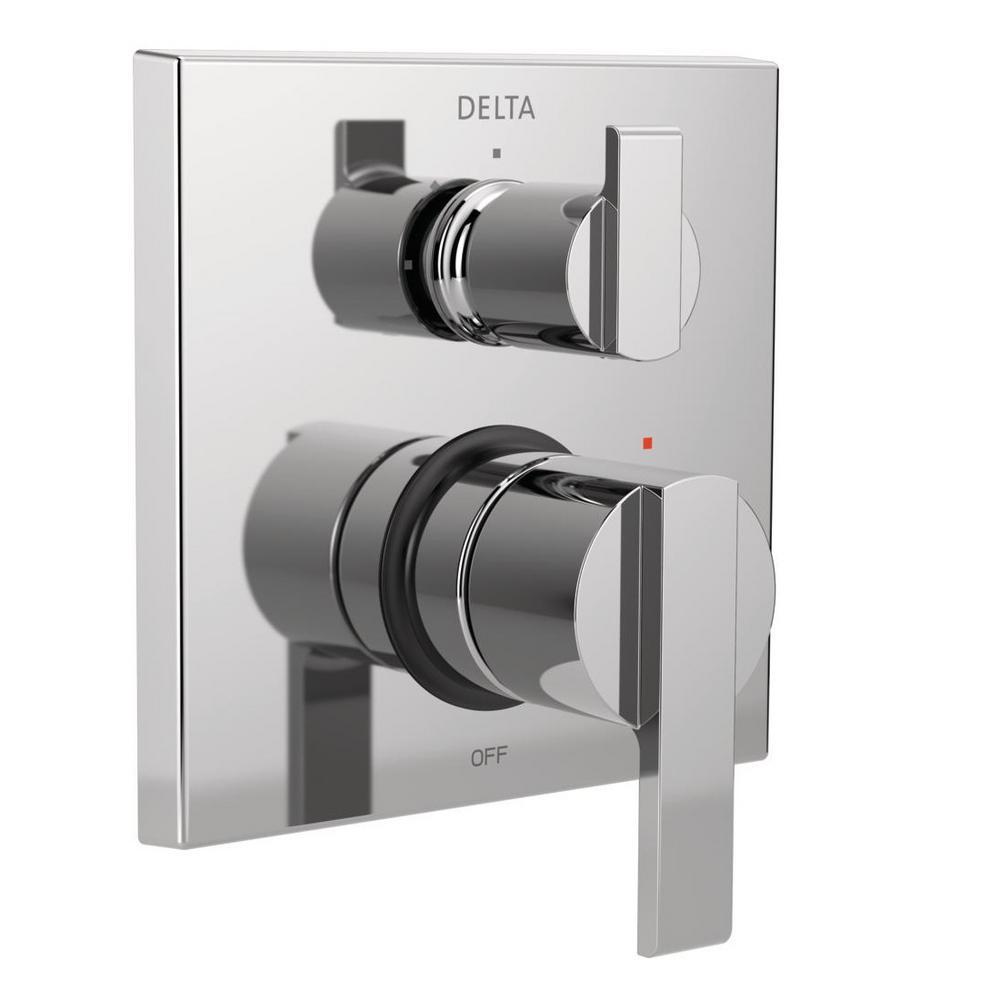 Delta Ara Modern 2 Handle Wall Mount Valve Trim Kit With