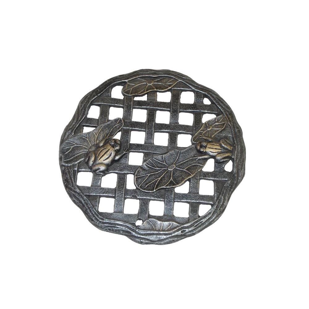 Oakland Living 12 in. x 12 in. Circular Frog Aluminum Step Stone