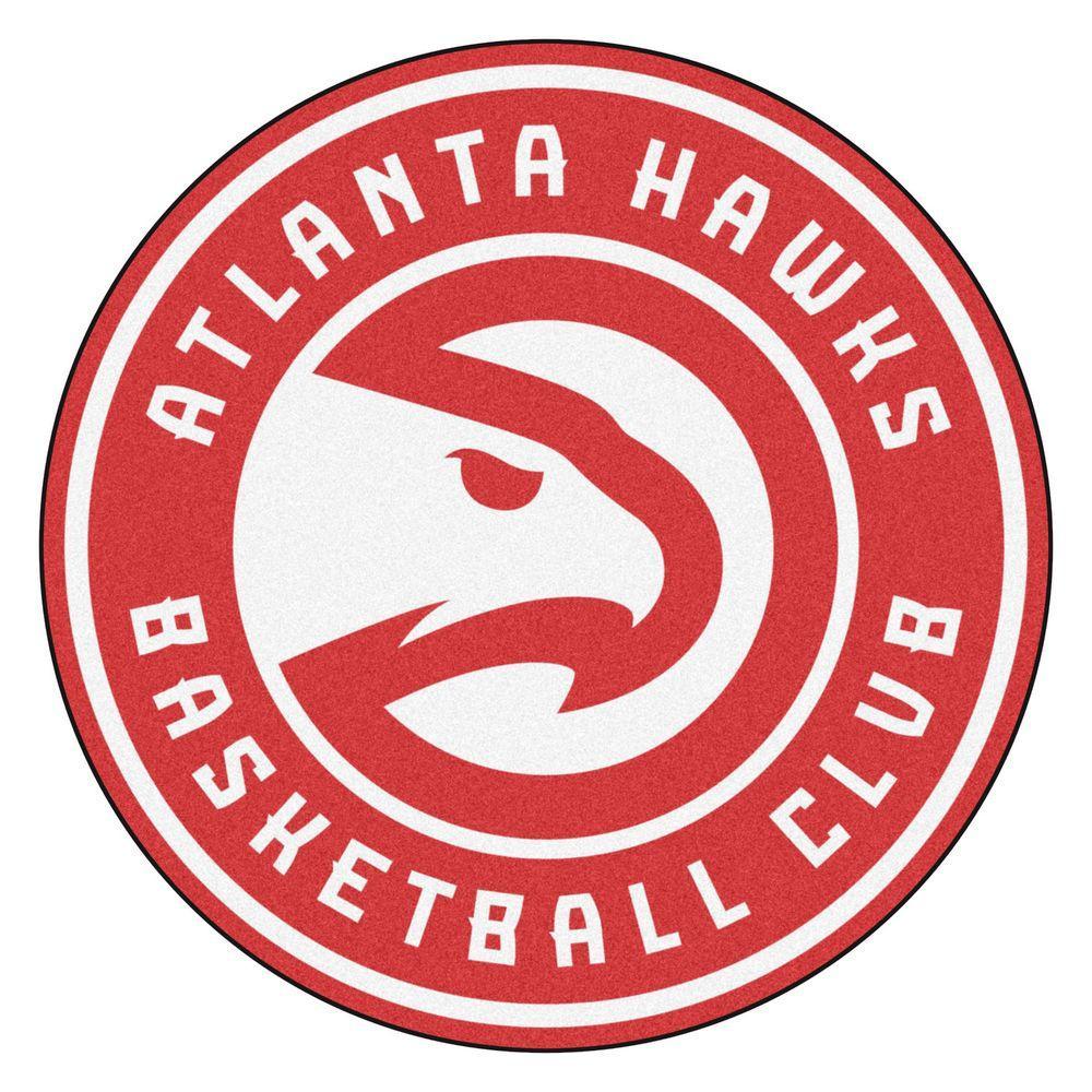 NBA Atlanta Hawks Red 2 ft. x 2 ft. Round Area Rug
