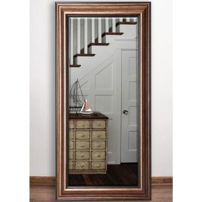32 in. x 65.5 in. Canyon Bronze Beveled Full Body Mirorr