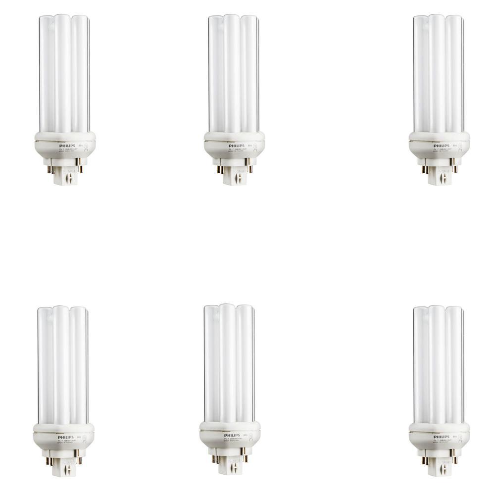 26-Watt Equivalent CFLNI CFL PLT Amalgam Gx24q3 Quad Tube Compact Fluorescent 4 Pin Bright White Light Bulb (6-Pack)