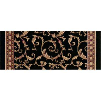 Kurdamir Prescot Black 9 in. x 26 in. Stair Tread Cover