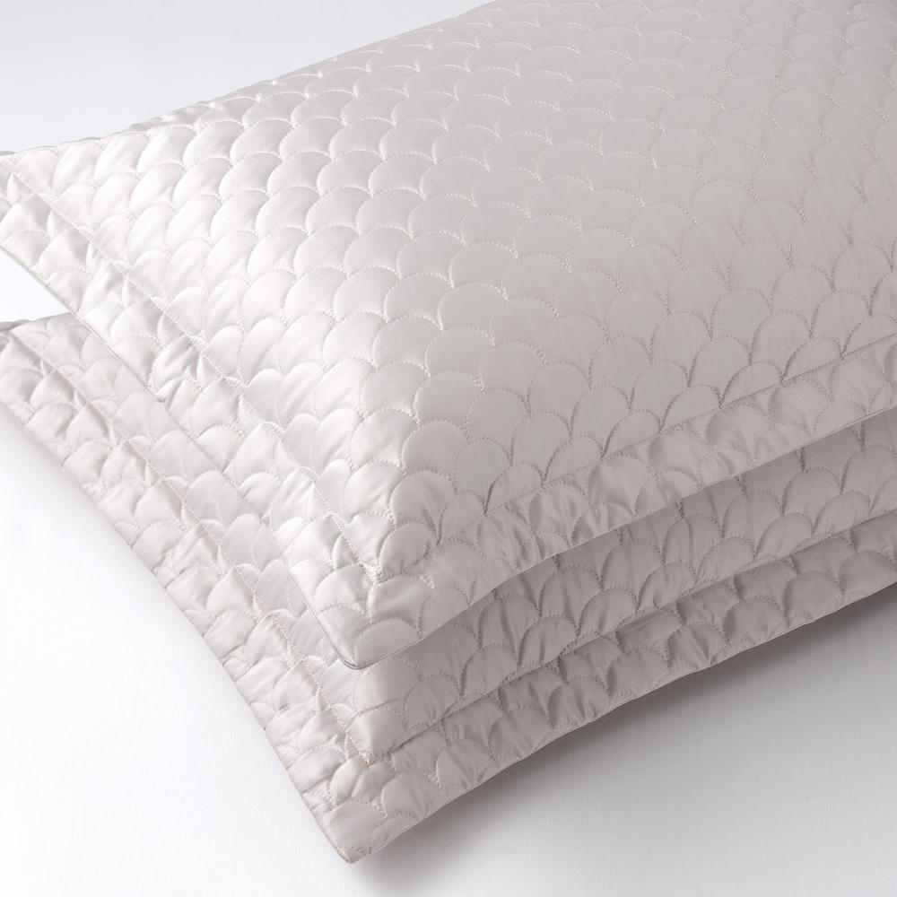 Soft Pewter King Quilted Pillow Sham