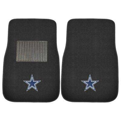 NFL Dallas Cowboys 2-Piece 17 in. x 25.5 in. Carpet Embroidered Car Mat