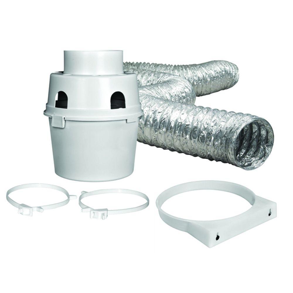 Indoor Dryer Vent Kit 4 in. x 5 ft. Flexible Duct