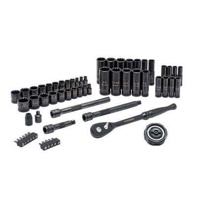 1/4 in. and 3/8 in. Drive 100-Position Universal SAE and Metric Mechanics Tool Set (60-Piece)