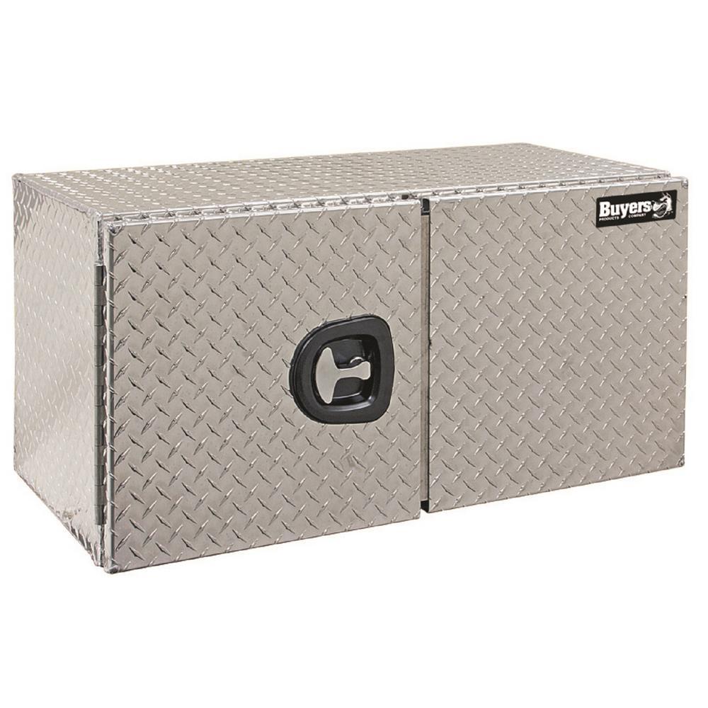 Diamond Tread Aluminum Underbody Truck Box with Double Barn Door, 24 in. x 24 in. x 36 in.