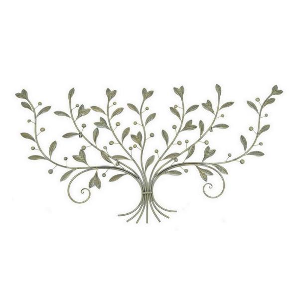 8d48ec3623 THREE HANDS 62 in. x 30 in. Leaf Wall Art - Brass Antique in Gold ...