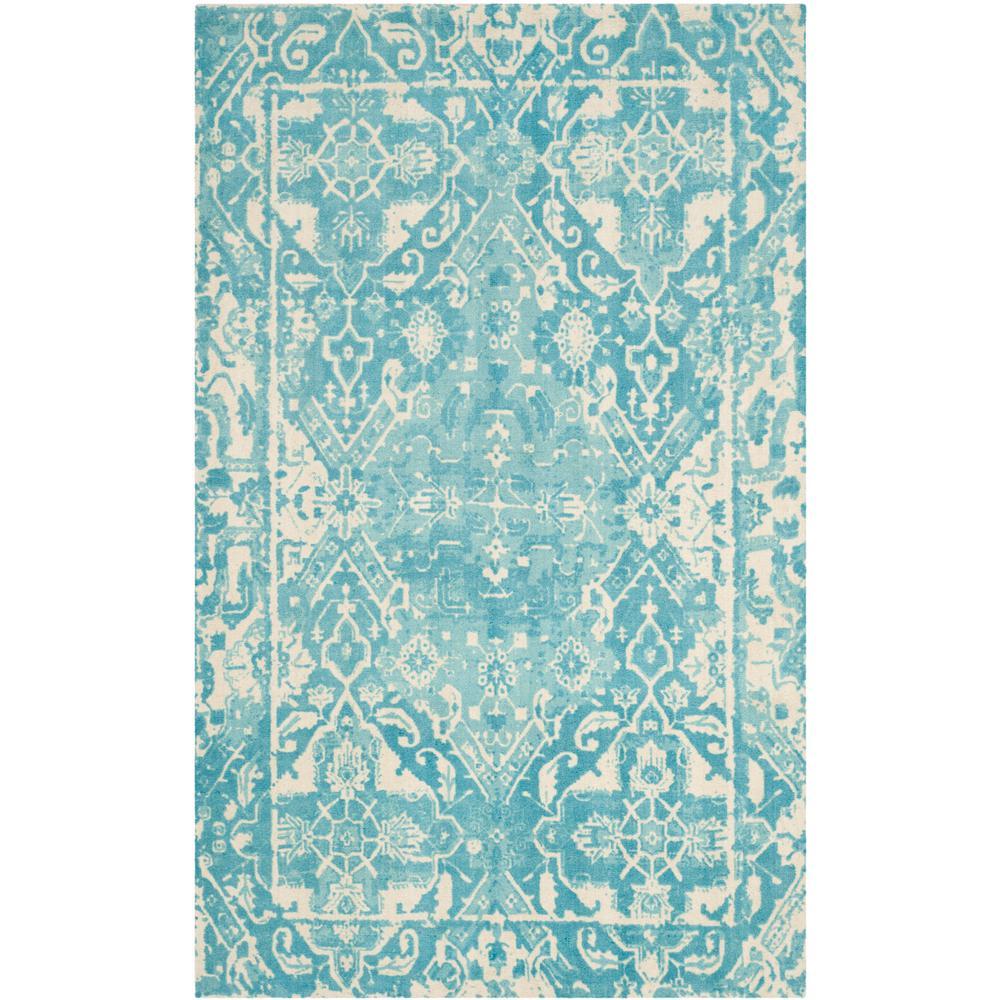 Safavieh Restoration Vintage Light Blue Ivory 5 Ft X 8 Ft