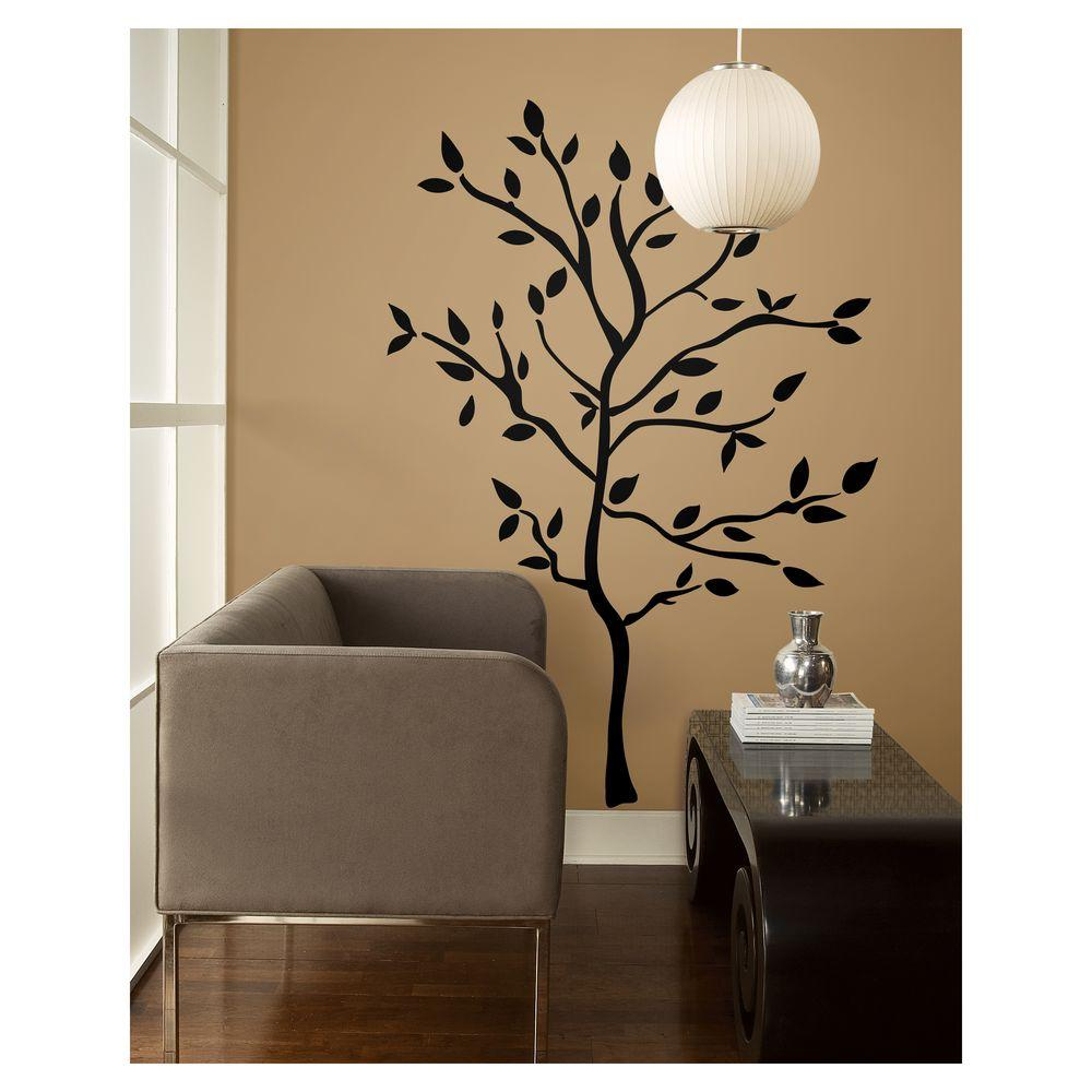 Peel and stick wall stickers home design for Black wall mural