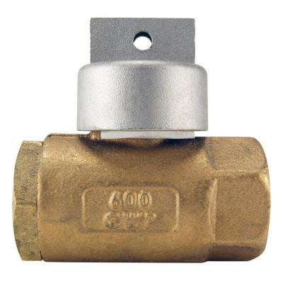 1 in. Bronze FNPT In-Line Irrigation Ball Valve with Automatic Drain