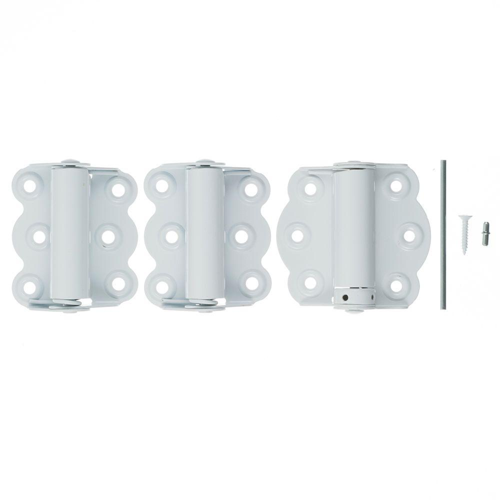 2 3/4 In. White Self Closing Adjustable Hinge
