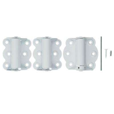 2-3/4 in. White Self-Closing Adjustable Hinge