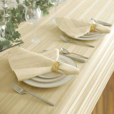 17 in. W x 17 in. L Elrene Denley Stripe Damask Ivory Fabric Napkins (Set of 4)