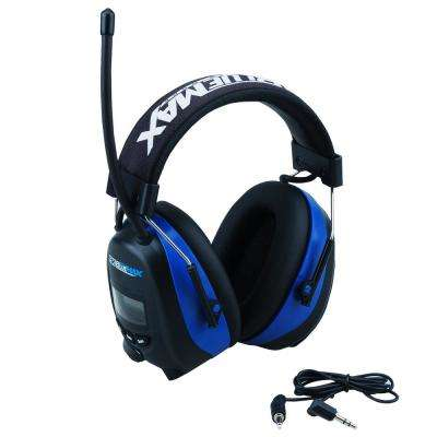 Digital Bluetooth Earmuff Headset with AM/FM Stereo Radio and Audio Input