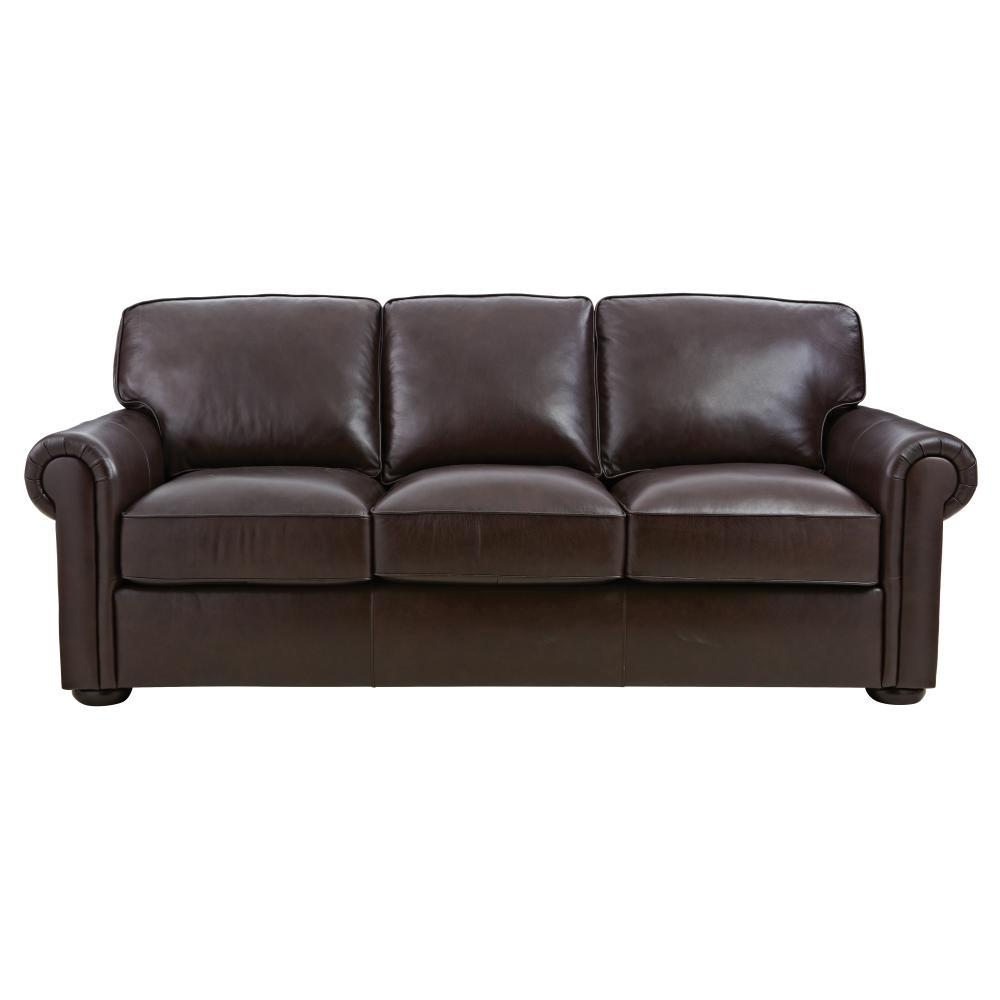 Home Decorators Collection Alwin Chocolate Italian Leather Sofa