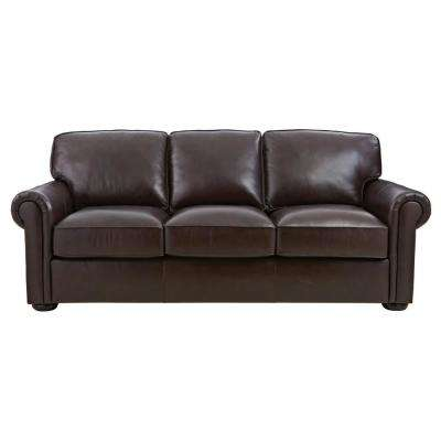 Alwin Chocolate Italian Leather Sofa