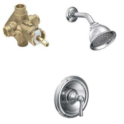 Kingsley Single-Handle 1-Spray Shower Faucet Trim Kit with Valve in Chrome (Valve Included)