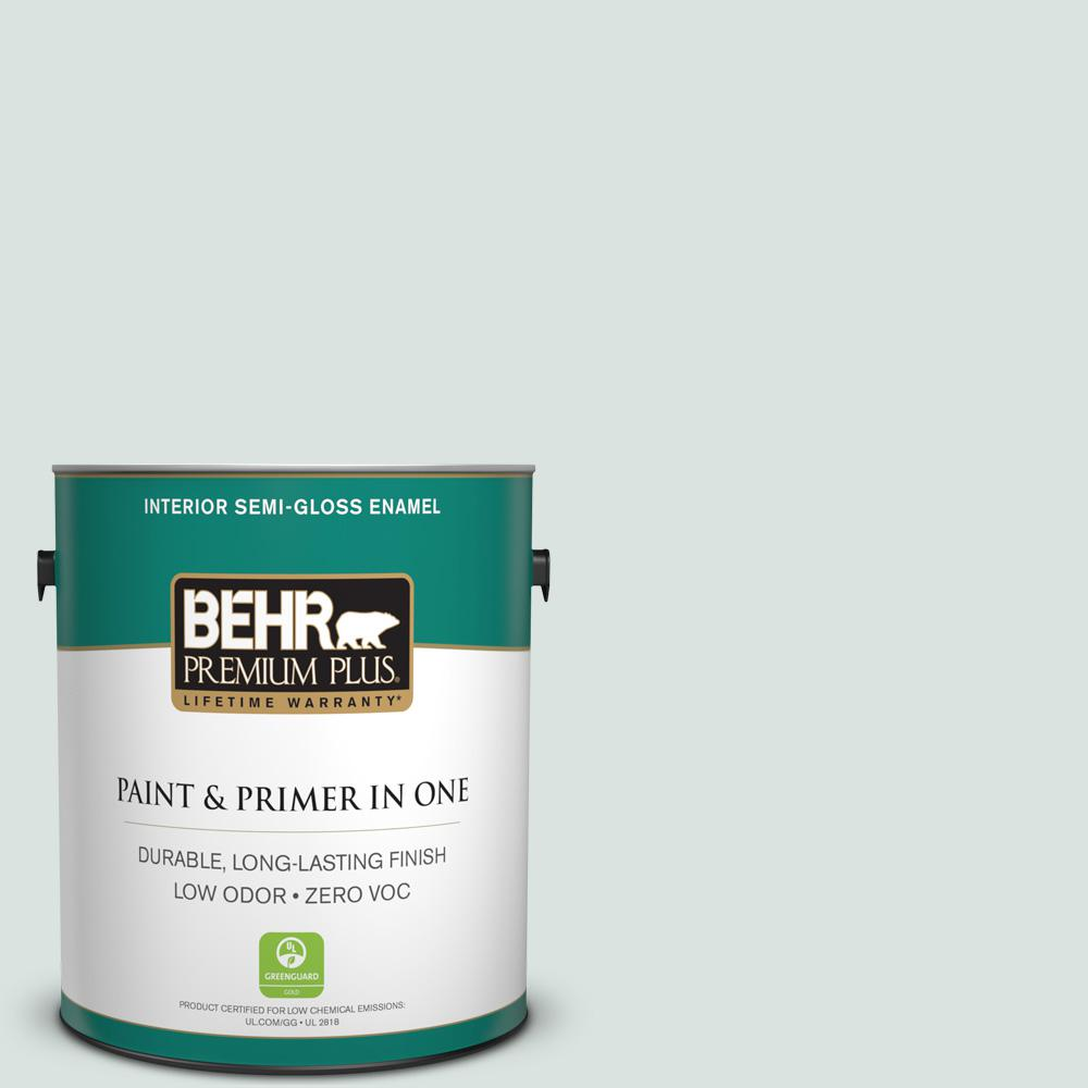 1-gal. #N430-1 Mountain Peak White Semi-Gloss Enamel Interior Paint