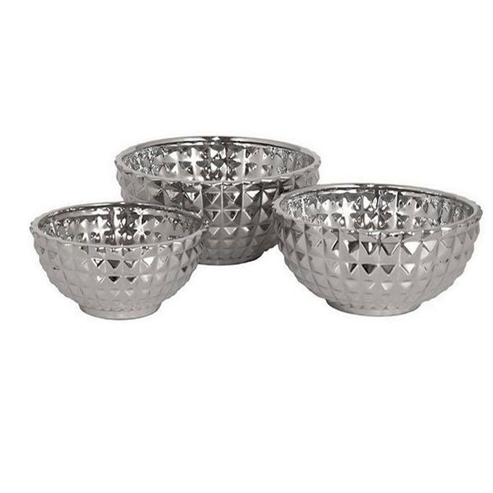 Home Decorators Collection Diondra Silver Bowls (Set of 3)