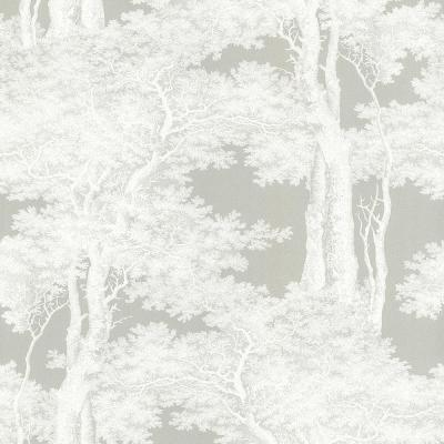 56.4 sq. ft. Scout Grey Forest Wallpaper