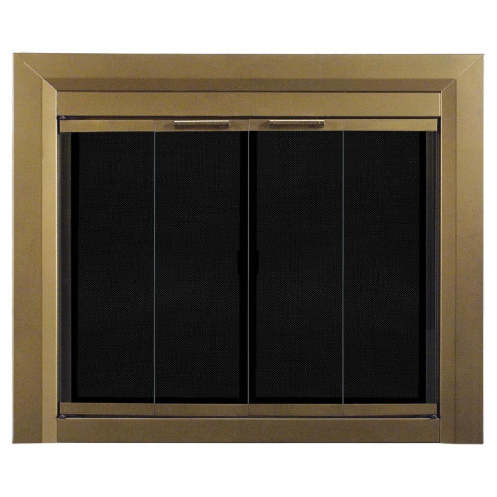 pleasant hearth carrington medium glass fireplace doors ct. Black Bedroom Furniture Sets. Home Design Ideas