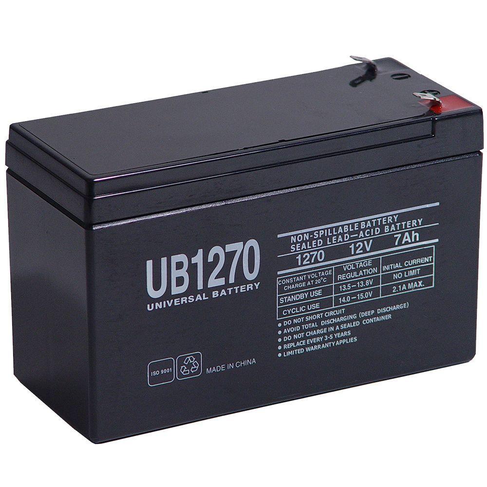 UPG Sealed 12-Volt 7 Ah Capacity F1 Terminal AGM Battery