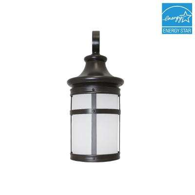 Bronze Outdoor Integrated LED Wall Mount Lantern in Soft White