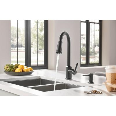 Indi Single-Handle Pull-Down Sprayer Kitchen Faucet with Reflex and Power Clean in Matte Black