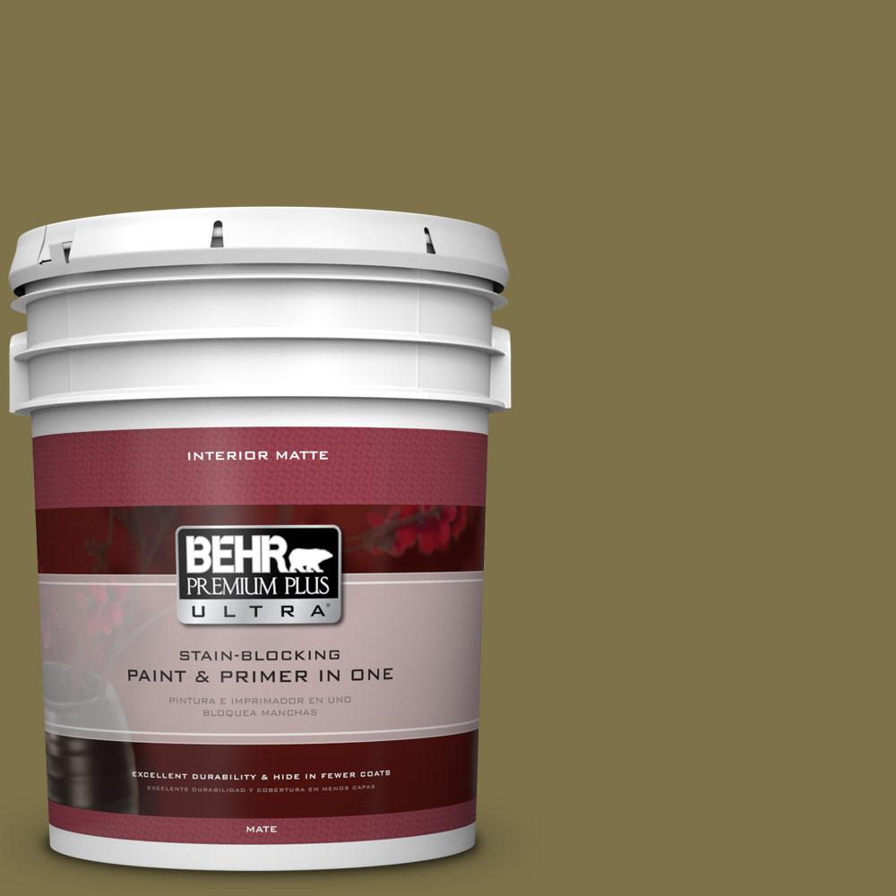 5 gal. #S330-7 Olive Shade Matte Interior Paint
