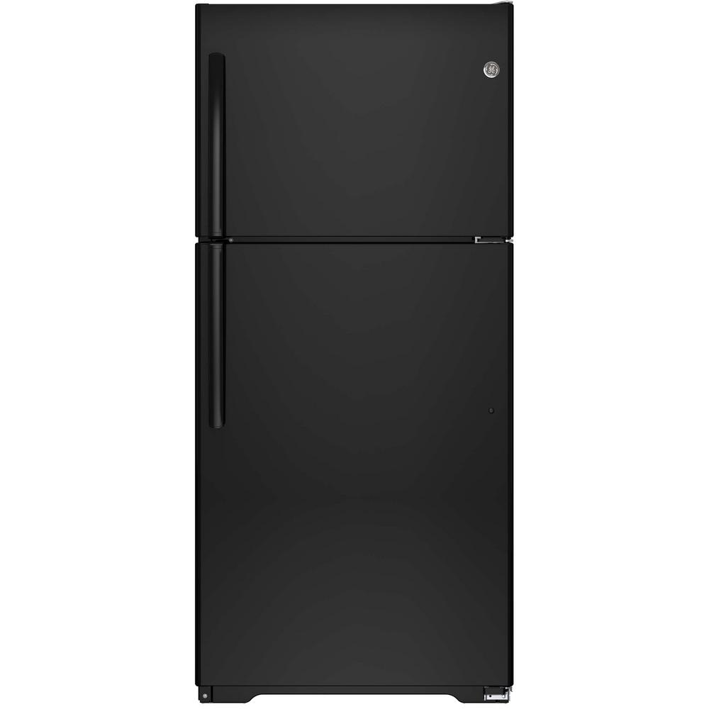 GE 18.2 cu. ft. Top Freezer Refrigerator in Black