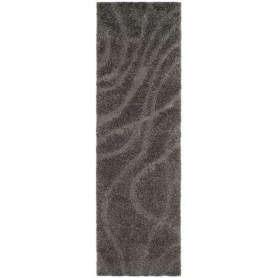 Florida Shag Gray 2 ft. 3 in. x 9 ft. Runner Rug