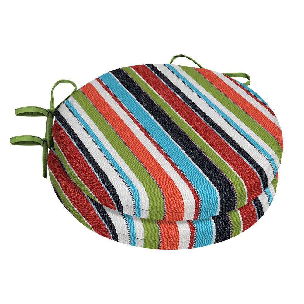 Home Decorators Collection 15 X Sunbrella Carousel Confetti Round Outdoor Chair Cushion 2 Pack
