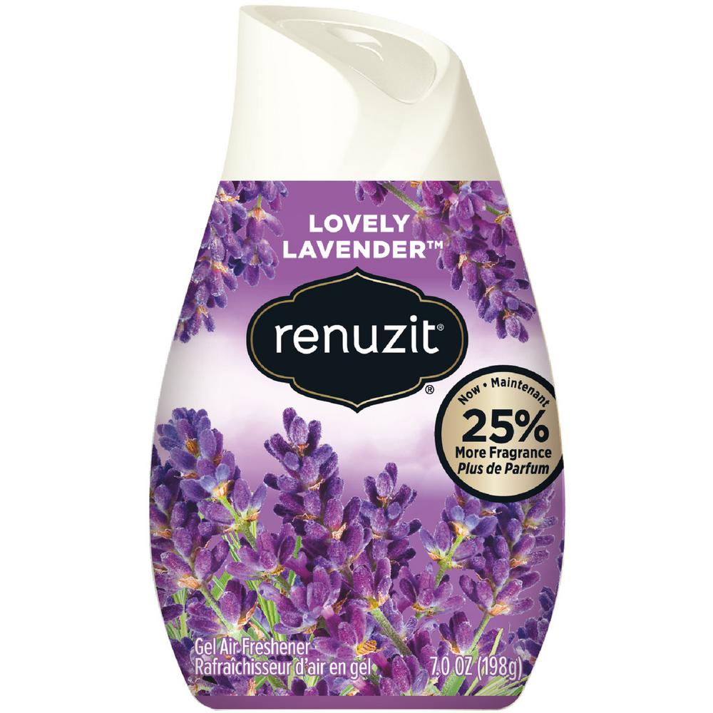 Gel Air Freshener >> Renuzit Simply Refreshed Collection 7 Oz Fresh Lavender Adjustable Gel Air Freshener