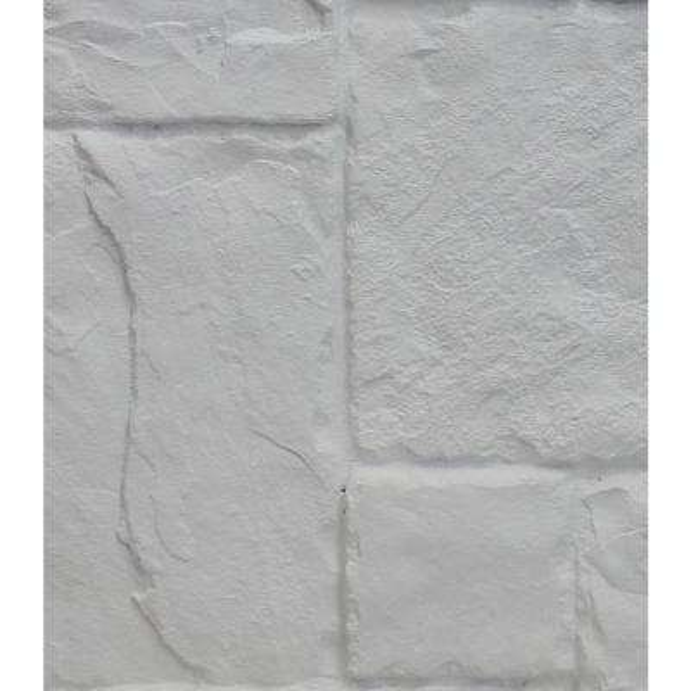 Dove White 8 in. x 8 in. x 3/4 in. Faux Windsor Stone Sample