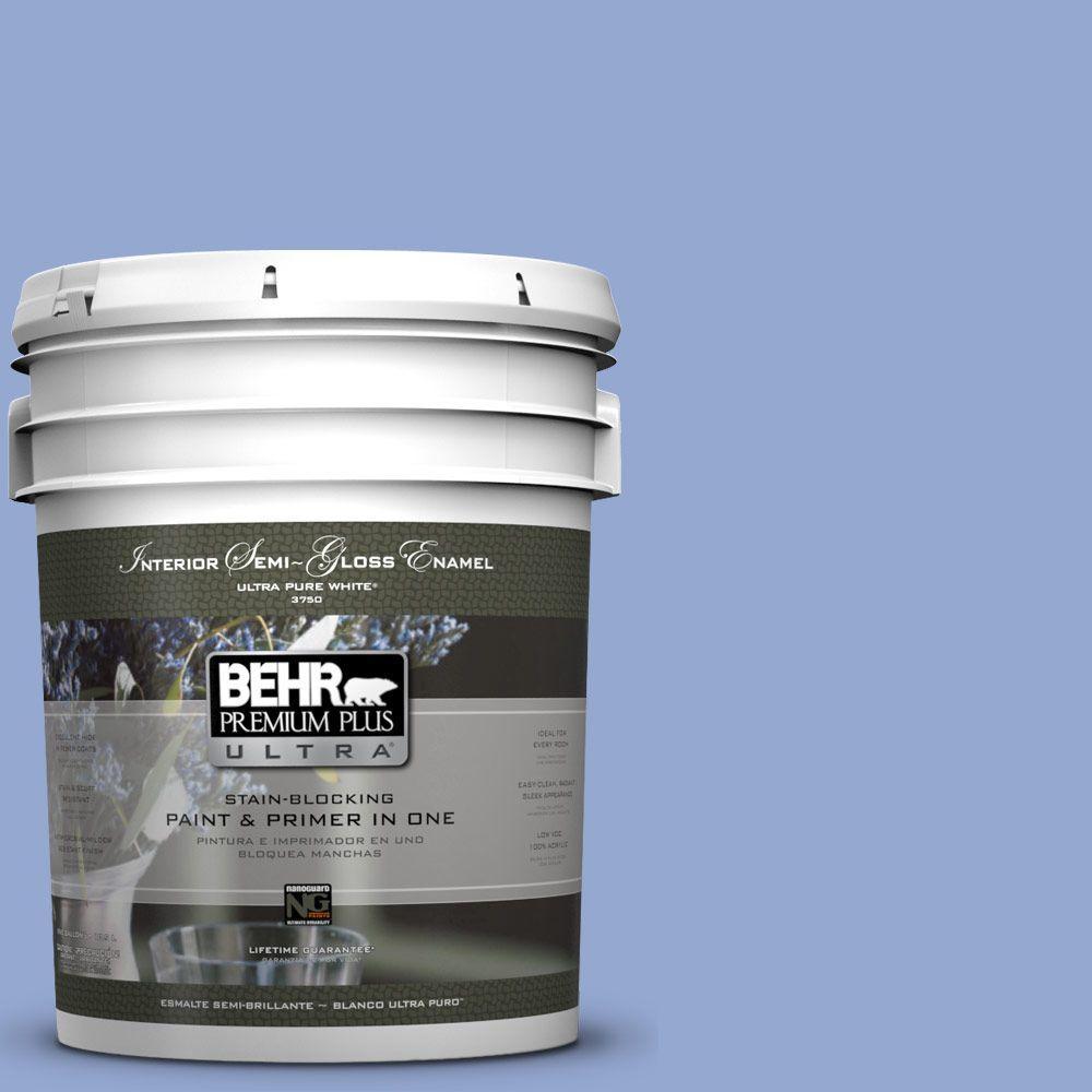 5-gal. #M540-4 Hopeful Dream Semi-Gloss Enamel Interior Paint