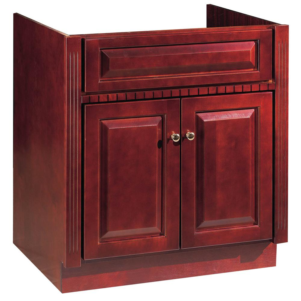 Hardware House 30 In W X 21 In D Vanity Cabinet Only In Cherry Ambrosia Finish 16600504 The