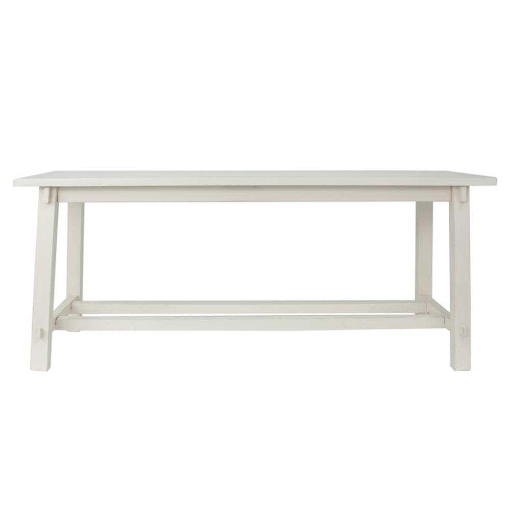Decor Therapy Kyoto Antique White Bench