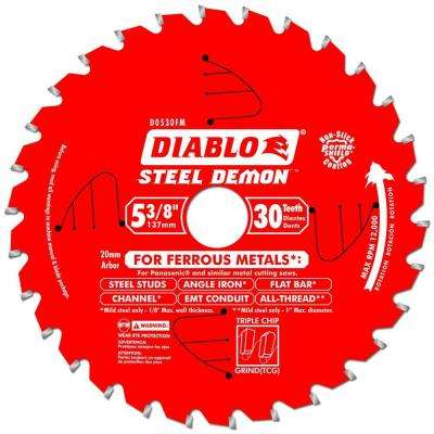 5-3/8 in. x 30-Tooth x 20mm Arbor Steel Demon Ferrous Metal Cutting Saw Blade