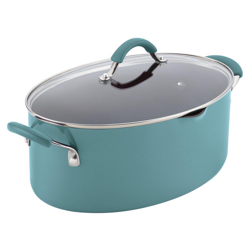 Rachael Ray Cucina 8 Qt. Aluminum Stock Pot with Lid